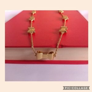 KATE SPADE Gold Bows Necklace 14""